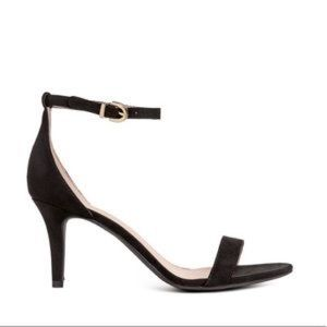 Size 7 Black Ankle Clasp Heels
